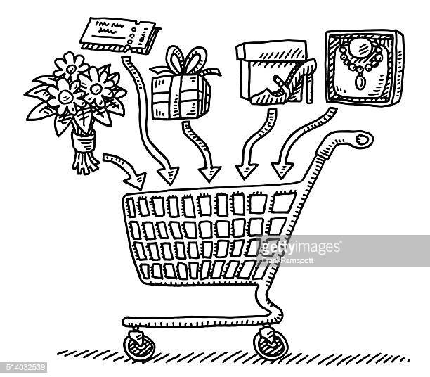 Shopping Cart Adding Products Drawing