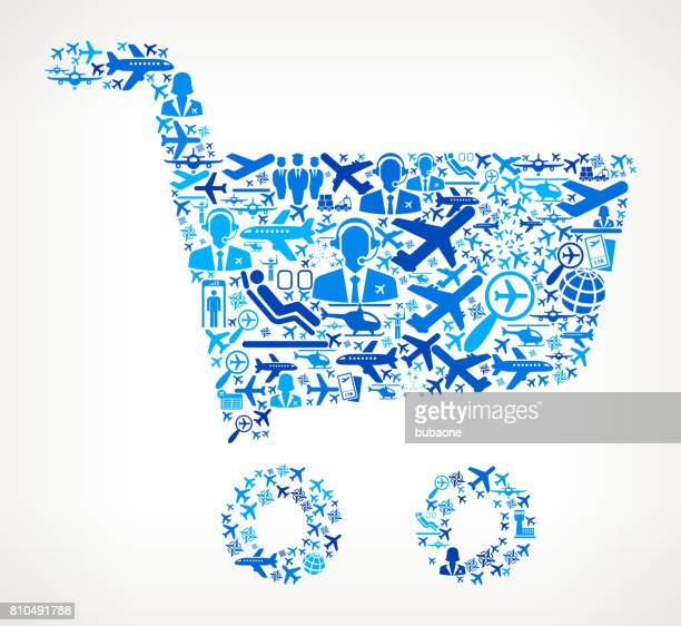 Shopping Cart  Aviation and Air Planes Vector Graphic