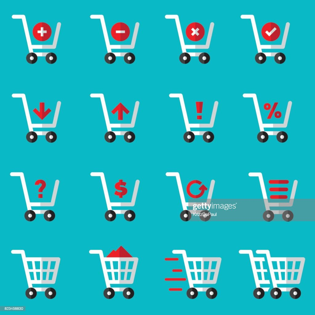 Shopping Cart Flat Icons