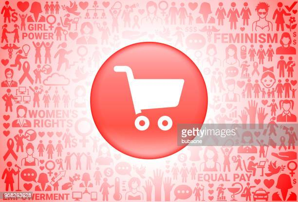 ilustraciones, imágenes clip art, dibujos animados e iconos de stock de compras carrito chica poder derechos de las mujeres fondo - madre trabajadora
