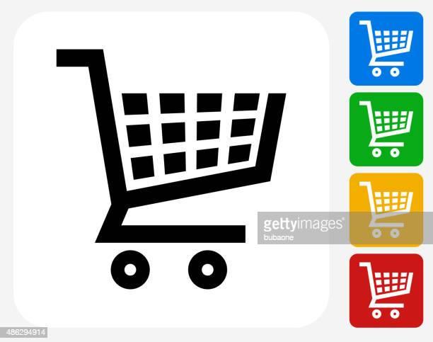 Shopping Cart Icon Flat Graphic Design