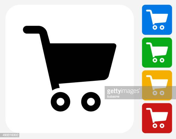 Shopping Cart Icon Flat Graphic Design