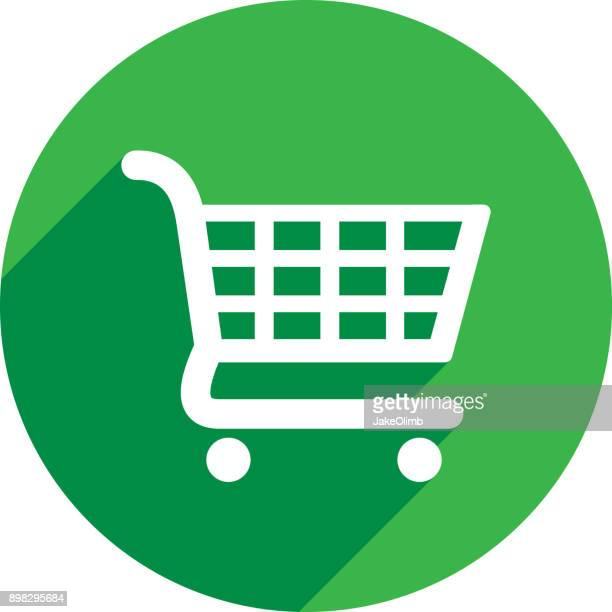 shopping cart icon silhouette 2 - shopping cart stock illustrations