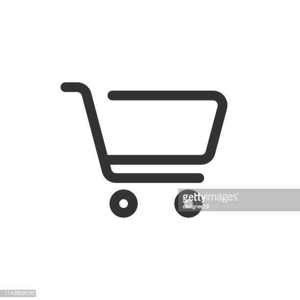shopping cart icon. - ware stock-grafiken, -clipart, -cartoons und -symbole