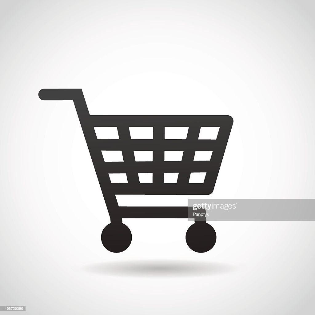 Shopping cart icon.