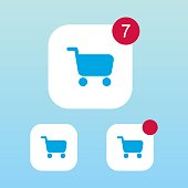 Shopping Cart Icon With Notification