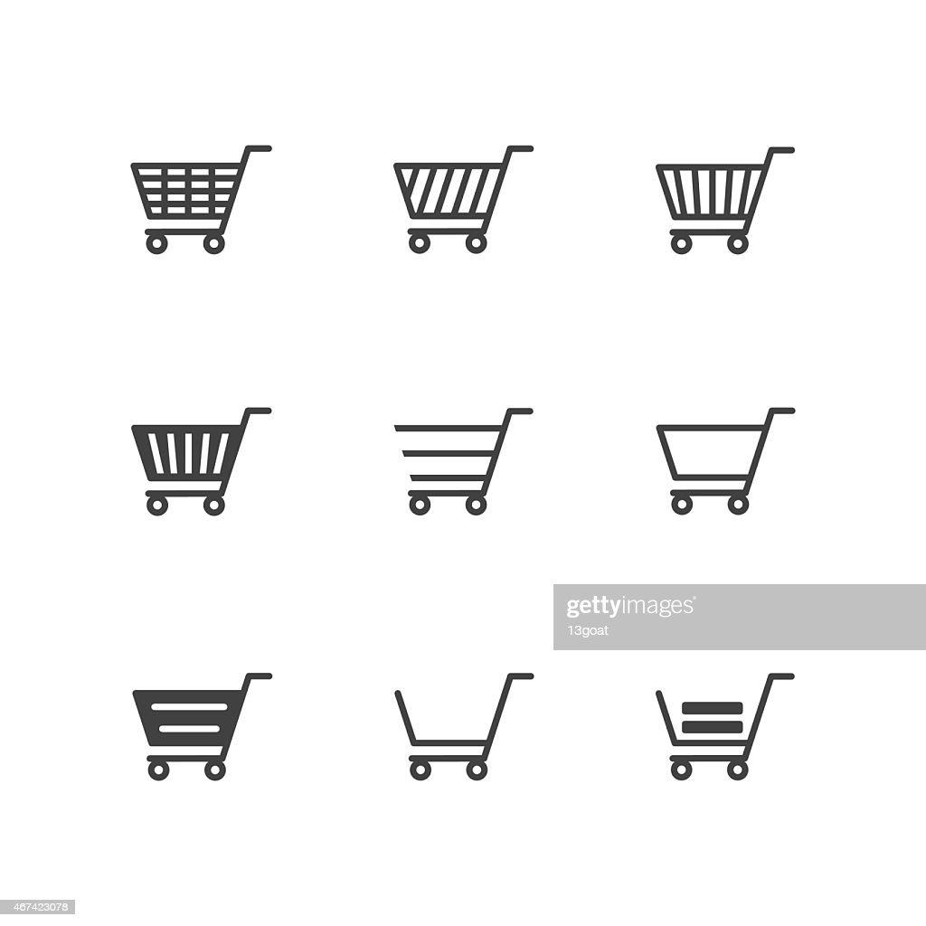 Shopping Cart Icons on white background