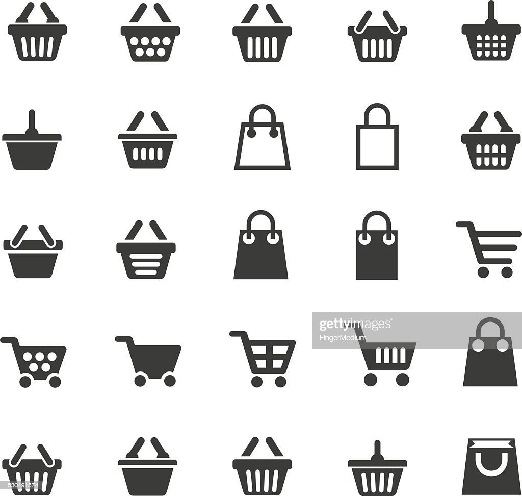 Shopping cart icons : stock illustration