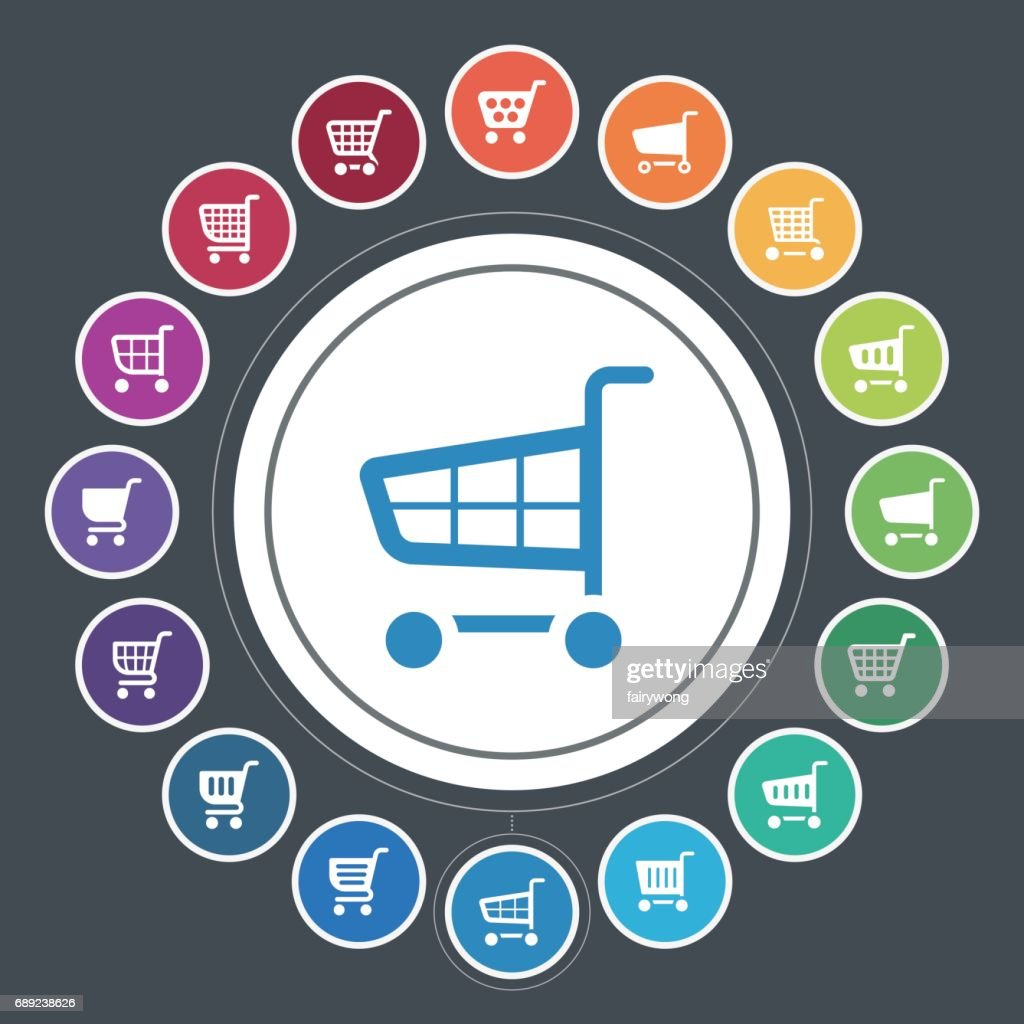 Shopping cart icons : Stock Illustration