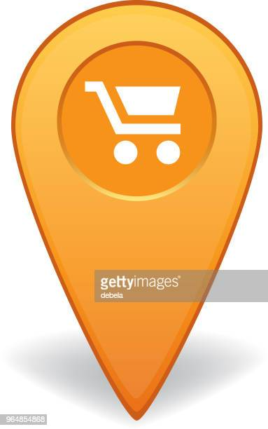 Shopping cart map pointer for GPS navigation