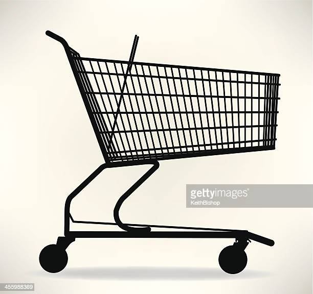 shopping cart - shopping cart stock illustrations