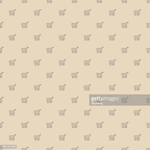 Winkelwagentjes, naadloze patroon