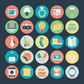 Shopping Colored Vector Icons 2