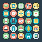 Shopping Colored Vector Icons 4