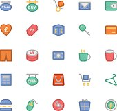 Shopping Colored Vector Icons 9
