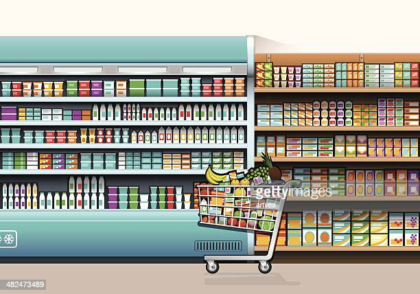 shopping concept - juice drink stock illustrations, clip art, cartoons, & icons