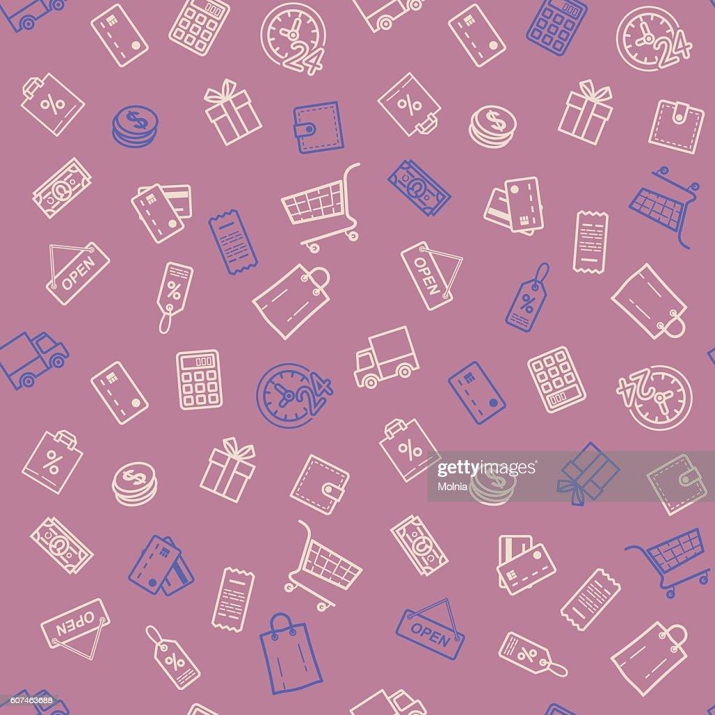 Shopping discount seamless pattern