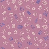 Shopping discount seamless pattern
