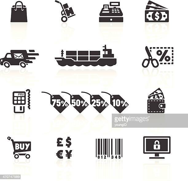 shopping & e-commerce icons 2 - credit card reader stock illustrations, clip art, cartoons, & icons
