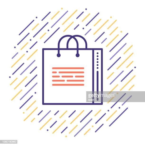 shopping festival line icon illustration - money to burn stock illustrations, clip art, cartoons, & icons