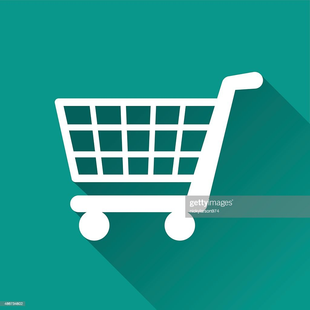 shopping flat design icon