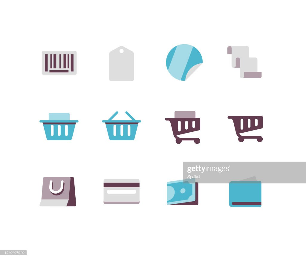 Shopping Flat icons : stock illustration