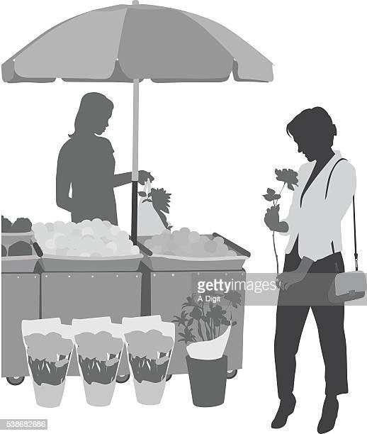 Shopping pour les fleurs
