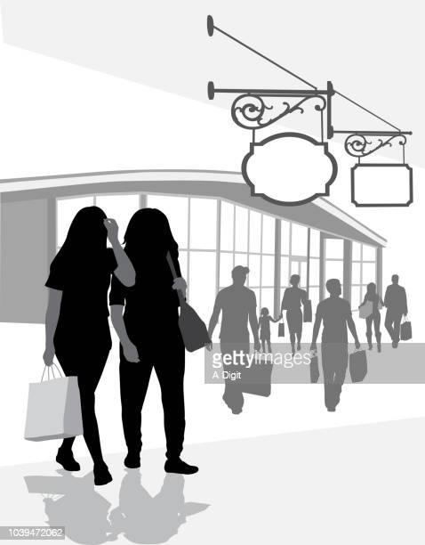 shopping gfs - girlfriend stock illustrations, clip art, cartoons, & icons