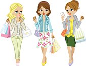 Shopping girls Spring clothes