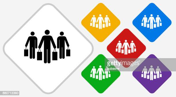 Farbe Diamant Vektor Gruppensymbol einkaufen