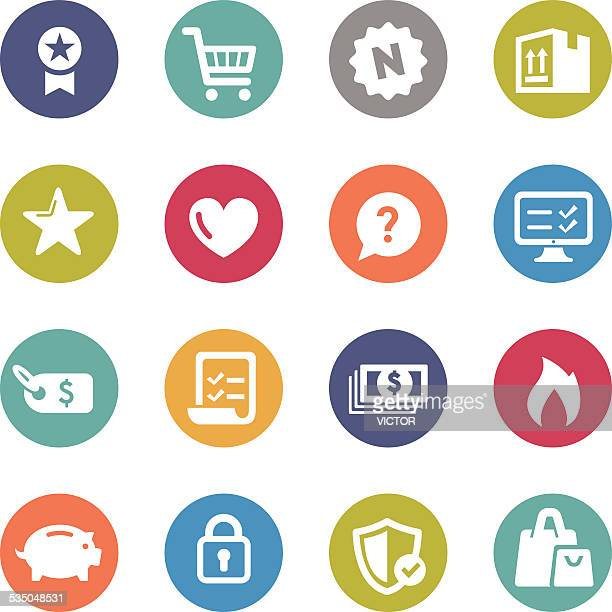 shopping icon - circle series - shopping list stock illustrations, clip art, cartoons, & icons