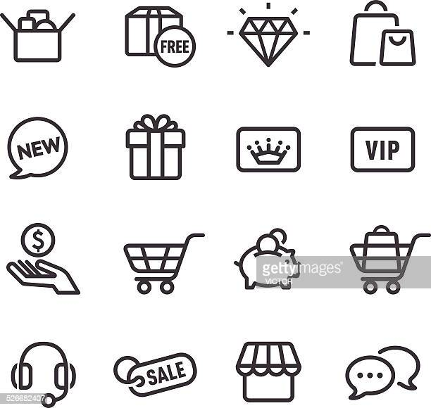 shopping icon - line series - new stock illustrations