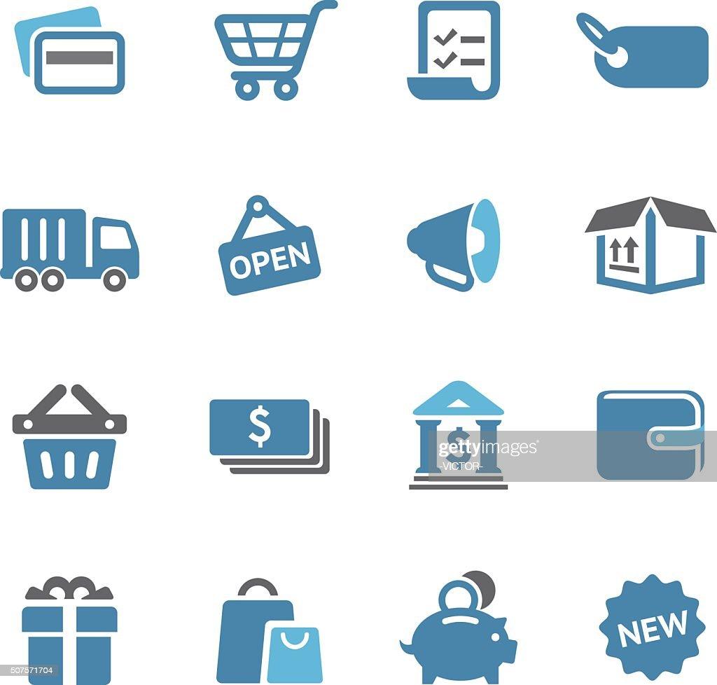 Shopping Icon Set - Conc Series