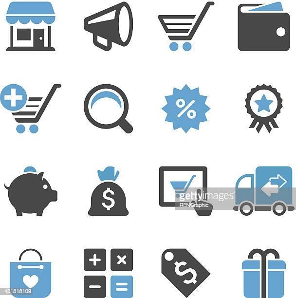 Shopping Icon Set   Concise Series