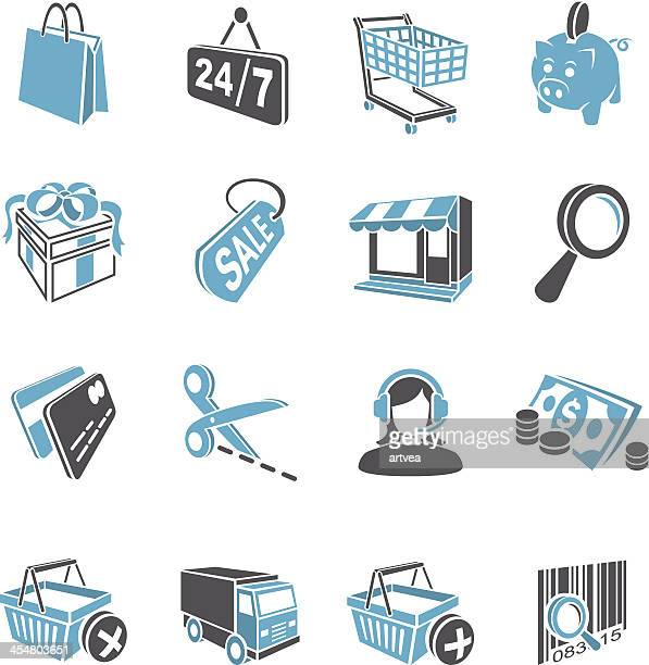 3d shopping icon set - credit card reader stock illustrations, clip art, cartoons, & icons