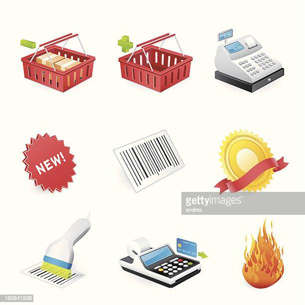 shopping icons - 3d series - card reader stock illustrations, clip art, cartoons, & icons