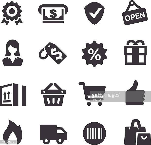 shopping icons - acme series - shopping basket stock illustrations