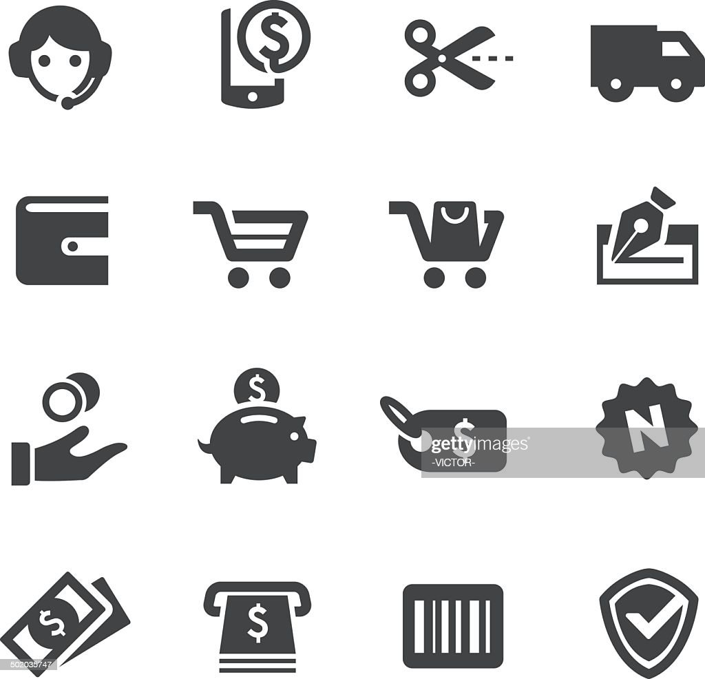 Shopping Icons - Acme Series : stock illustration