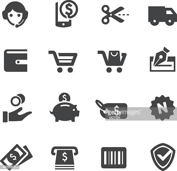 shopping icons - acme series - cash flow stock illustrations, clip art, cartoons, & icons