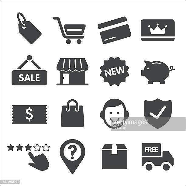 shopping icons - acme series - luggage tag stock illustrations, clip art, cartoons, & icons