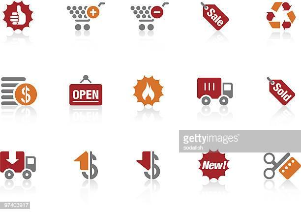 ilustrações, clipart, desenhos animados e ícones de ícones/alto série de compras - subtração