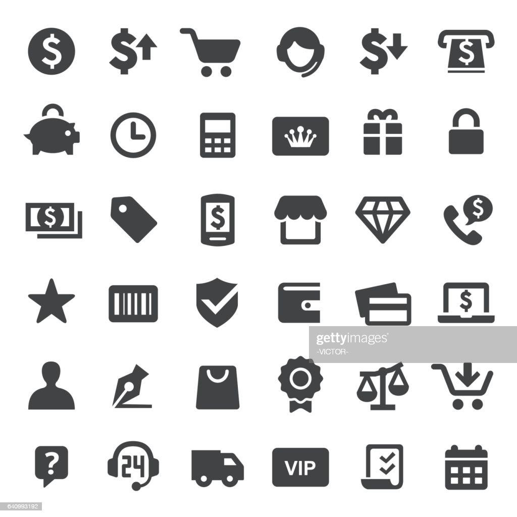 Shopping Icons - Big Series : stock illustration