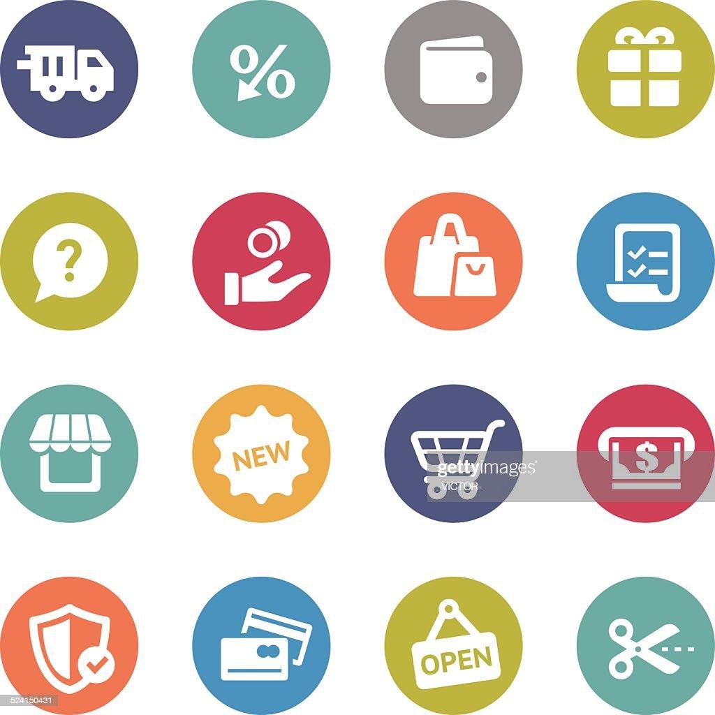 Shopping Icons - Circle Series