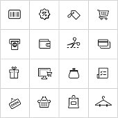 Shopping Icons — Inky Series