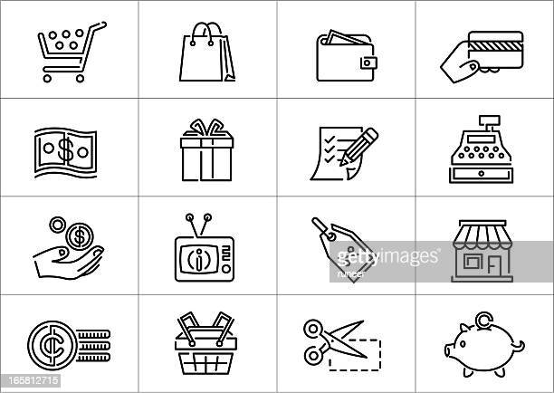 Shopping icons | Linea series