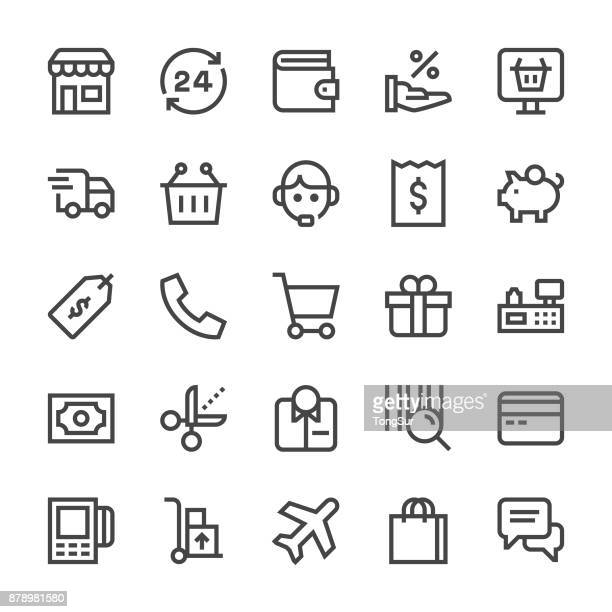 Shopping Icons - MediumX Line