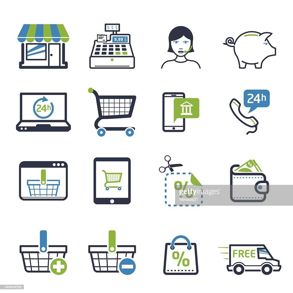 Shopping icons set 01