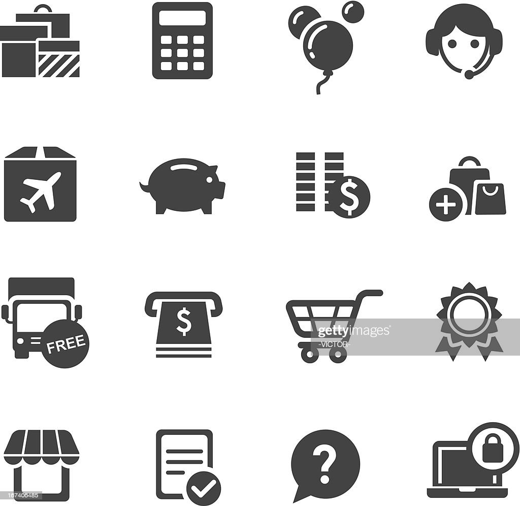Shopping Icons Set 3-Acme Series : Vektorgrafik