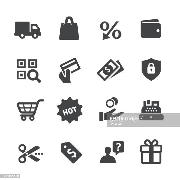 shopping icons set - acme series - card reader stock illustrations, clip art, cartoons, & icons