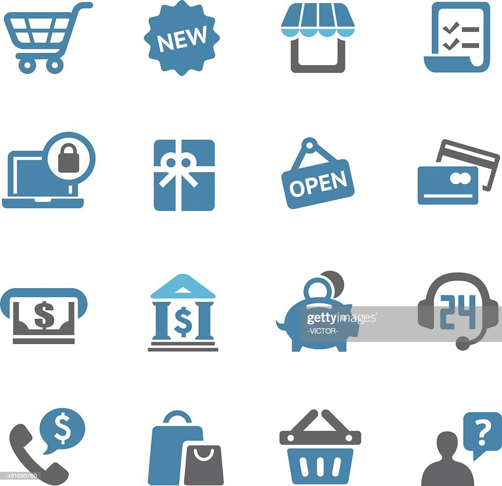 Shopping Icons Set - Conc Series